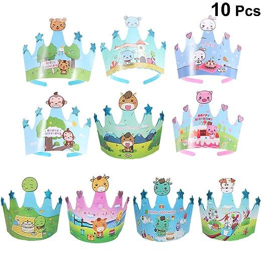 Toyvian 10 unids cumpleaños niños Casquillo de la Corona ...
