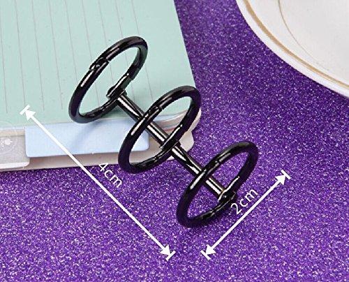 Amazon.com: Chris-Wang 10 piezas de metal de 3 anillas para ...