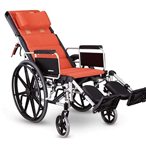 DPPAN Luxury Drive Medical Transport Silla de ruedas Plegable ligero para adultos, resistente aleación de