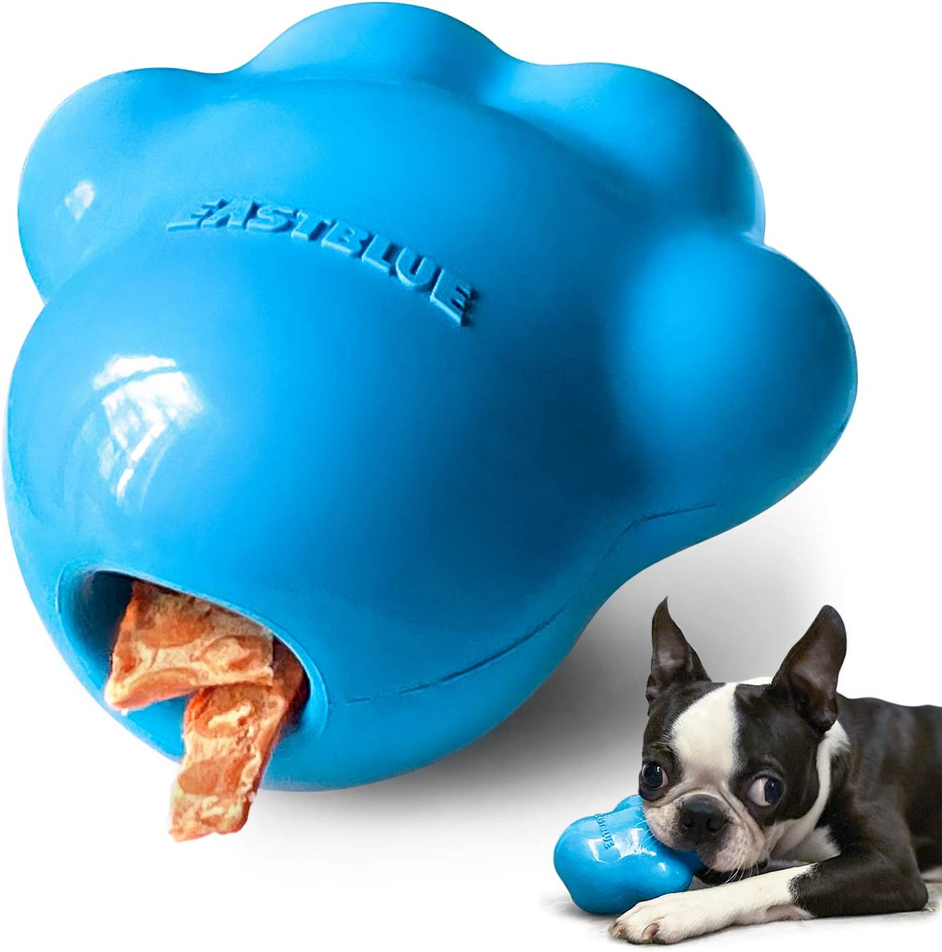 EASTBLUE Stuffable Dog chew Toys: Durable Rubber Ball for Aggressive chewers - Indestructible Puppy Puzzle Toy for Medium and Large Breed