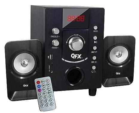 QFX BT202BLK 2.1 Channel NFC Bluetooth Speaker, Black