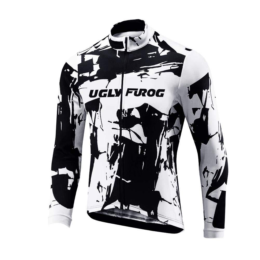 Uglyfrog Mode Beruf Radtrikot Herren Set Langarm Sport /& Freizeit Rennrad Fahrradbekleidung Radsport Hemd Polyester Reflektor Bike Radlerhose CXMX02F