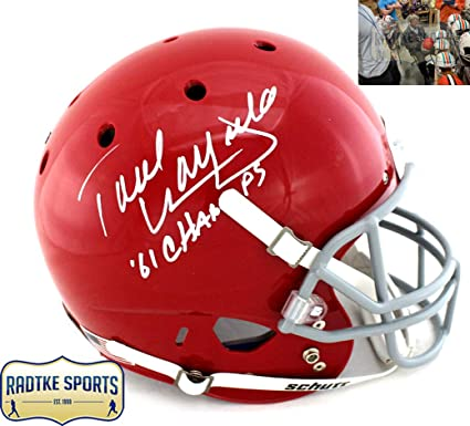 7d5fe122042 Paul Warfield Autographed/Signed Ohio State Buckeyes Schutt Full Size NCAA  Red Helmet With""
