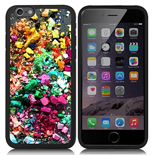 Sr Plush (New Apple iPhone 6 s 4.7-inch CocoZ® Case Beautiful Personalized color TUP Material Case (Black TPU& Beautiful color 38))