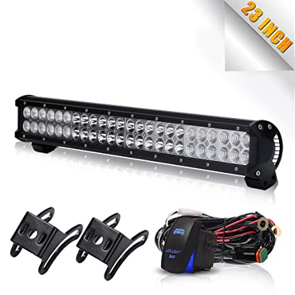 amazon com led light bar turbosii dot 23 inch light bar front rear rh amazon com wiring up rear work light wiring up rear work light