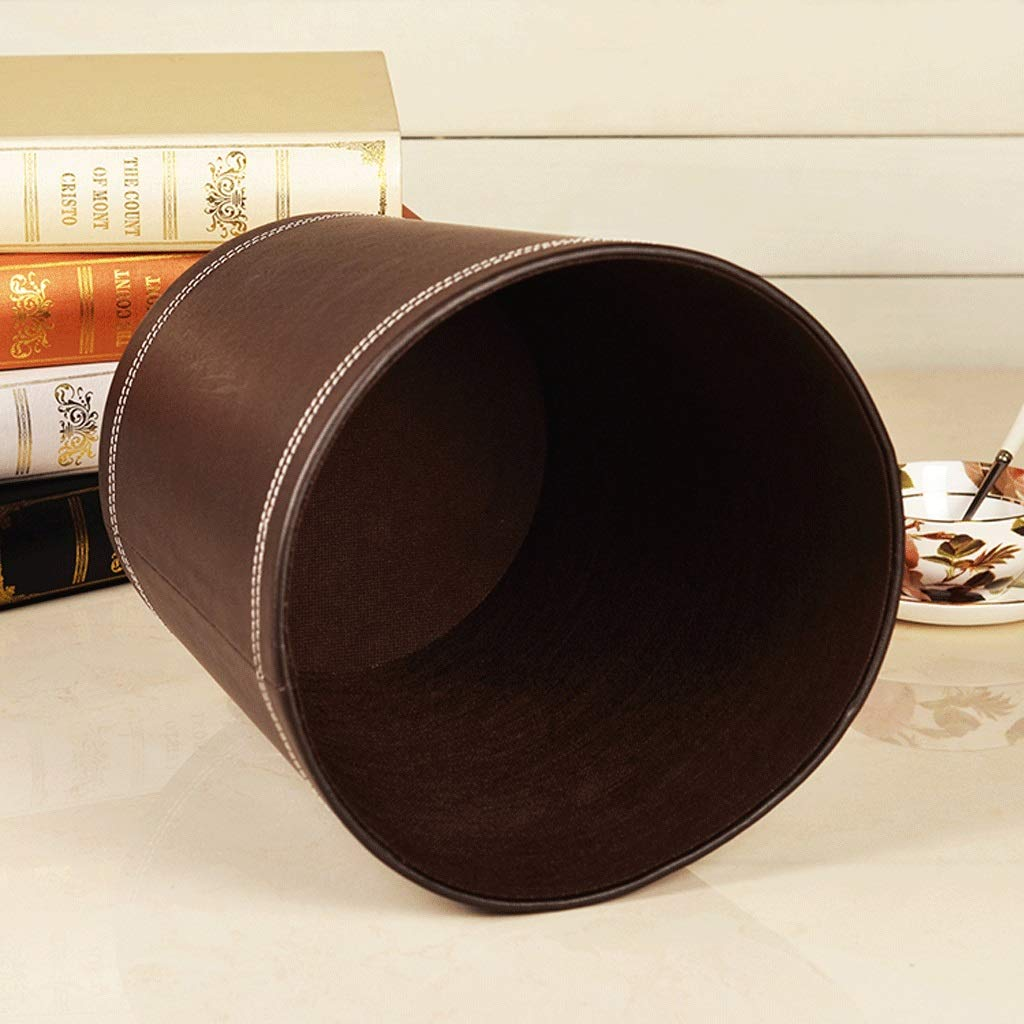 SUN ll - - - Mülleimer Mülleimer Leder 25  28 cm Hause Wohnzimmer Schlafzimmer Bad küche Hotel mülleimer (Farbe   Schwarz) B07Q2S5R5W Toilettenpapieraufbewahrung 5ea8c0