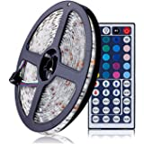 ELlight RGB LED Light Strip, 5m/16.5ft SMD 5050 300leds, Waterproof IP65, Flexible Light Strips Kit for Home Bar Party Decoration (44Keys Remote Controller + 12V 5A Power Adapter included)