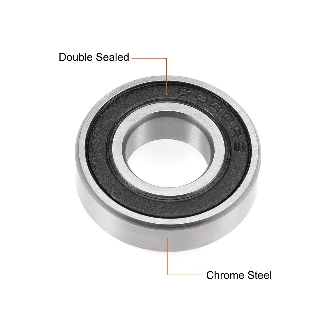 6803-2RS Ball Bearings 17x26x5mm Double Sealed Chrome Steel Blue Cover P6