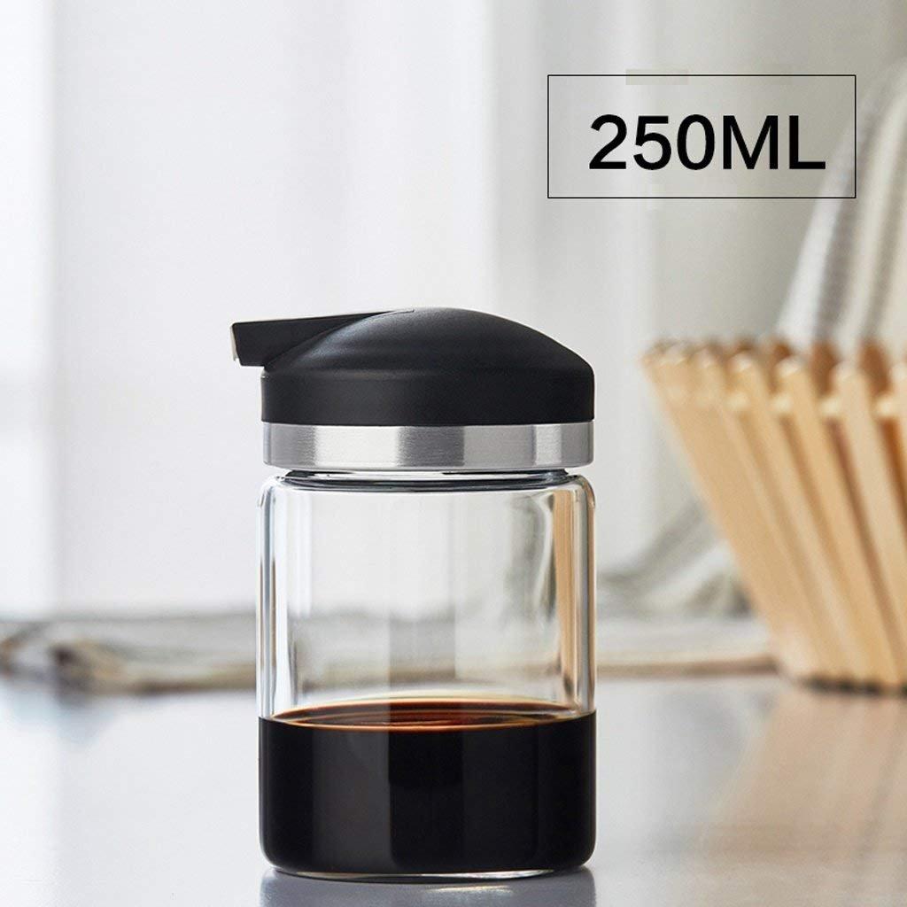 HLL Seasoning Bottle Glass Oil Bottle Leakage Sauce Bottle Vinegar Set Kitchen Seasoning Bottle Soy Sauce Oil Tank (1 Assembly)