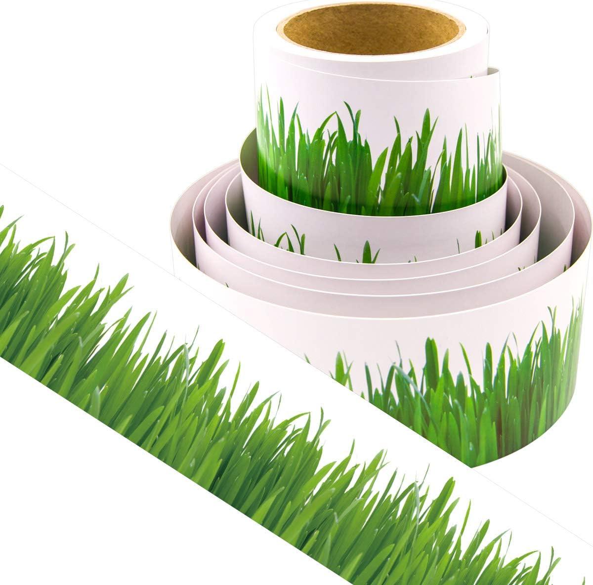 Green Grass Bulletin Board Border for Farm Animal Theme Decorations Classroom Supply 36ft