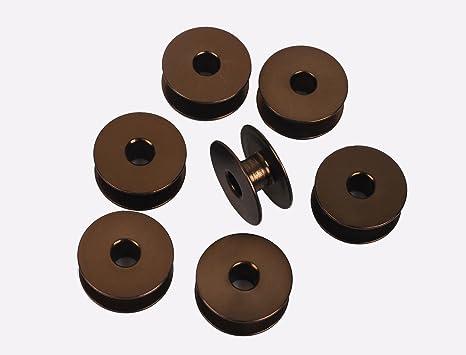 honeysew 10 bobinas de aluminio Industrial individual aguja Máquinas de Coser # 272152 marrón