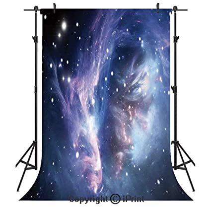 Purple Galaxy Birthday Banner Party Decoration Backdrop