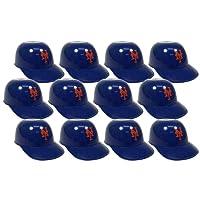 MLB Mini Batting Helmet Ice Cream Sundae/ Snack Bowls, NY Mets - 12 Pack