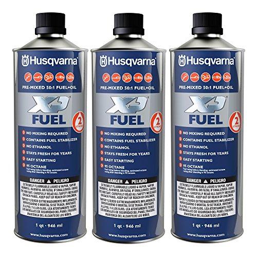 Husqvarna XP Pre-Mixed Fuel and Engine Oil Quart (3 Pack)