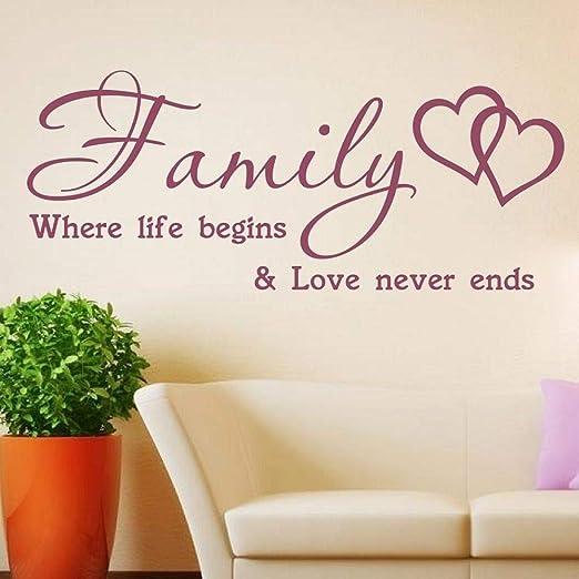 Zhuhuimin Vinilo Adhesivo de Pared para niños Family Life Love ...