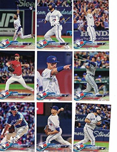 Toronto Blue Jays/Complete 2018 Topps Series 1 & 2 Baseball 21 Card Team Set! Includes 25 bonus Blue Jays Cards!