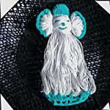 bimbabeautiful Brand Crochet Doll Appliques Handmade Woolen Sky Blue And White Sewing Art And Craft 15 PCS