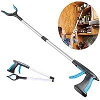 "32"" Foldable Grabber Reacher, 1 Packs, Rotating Gripper Mobility Aid Reaching Assist Tool Trash Picker, Litter Picker, Garden Nabber, Arm Extension, Pick Up Grabber Reaching Tool (Blue)"