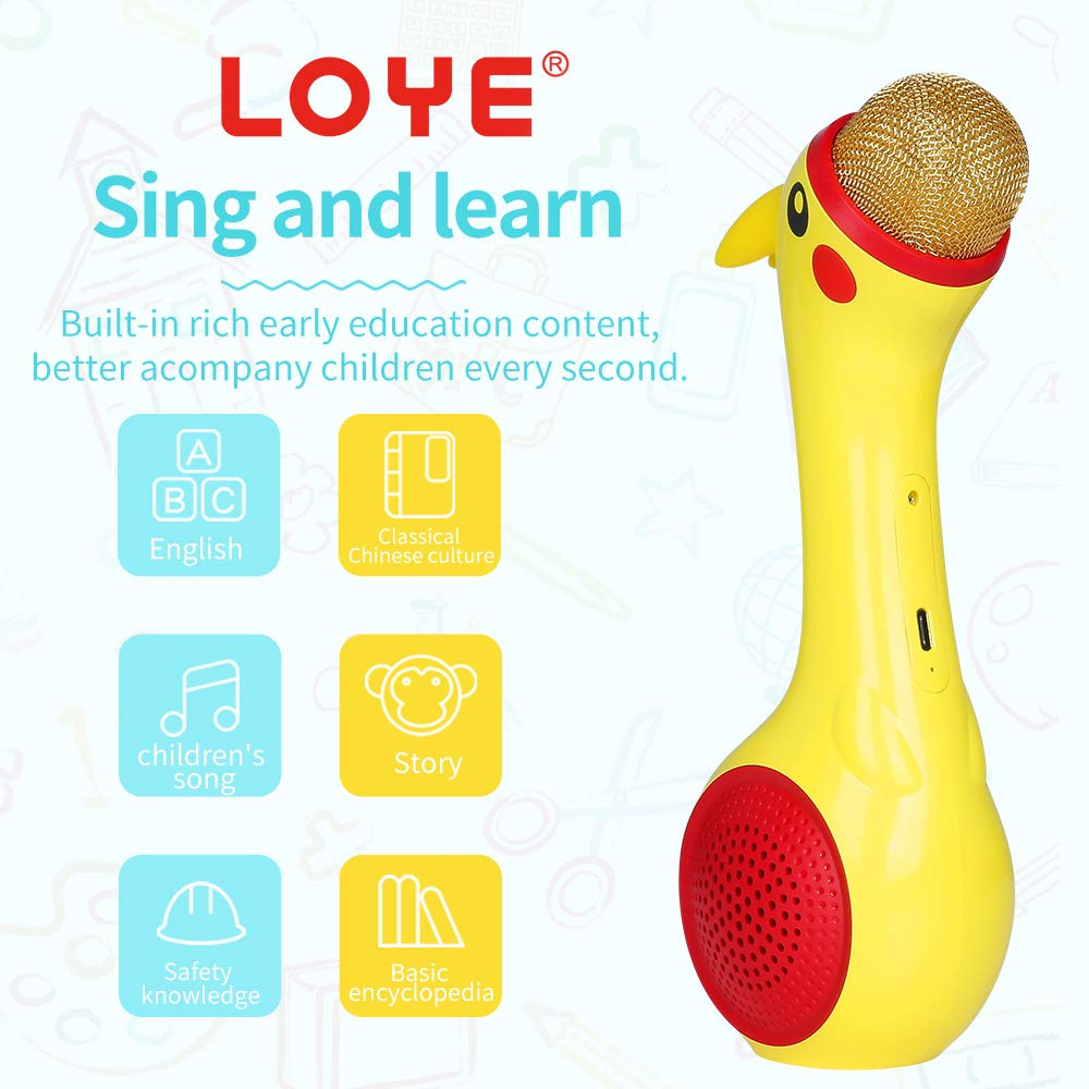 LOYE Wireless Bluetooth Karaoke Microphone Magic Sound for Kids Toddles Baby Child Children 2 in 1 Portable Handheld Home Party Speaker with TF Card Birthday New Year by LOYE (Image #3)