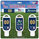 NCAA Notre Dame Fighting Irish Game Day Pack Includes 2 Lip Balm, 1 Hand Lotion, 1 Hand Sanitizer and 1 SPF 30 Sunscreen (5-Piece), 8 x 8 x 1.5-Inch, White