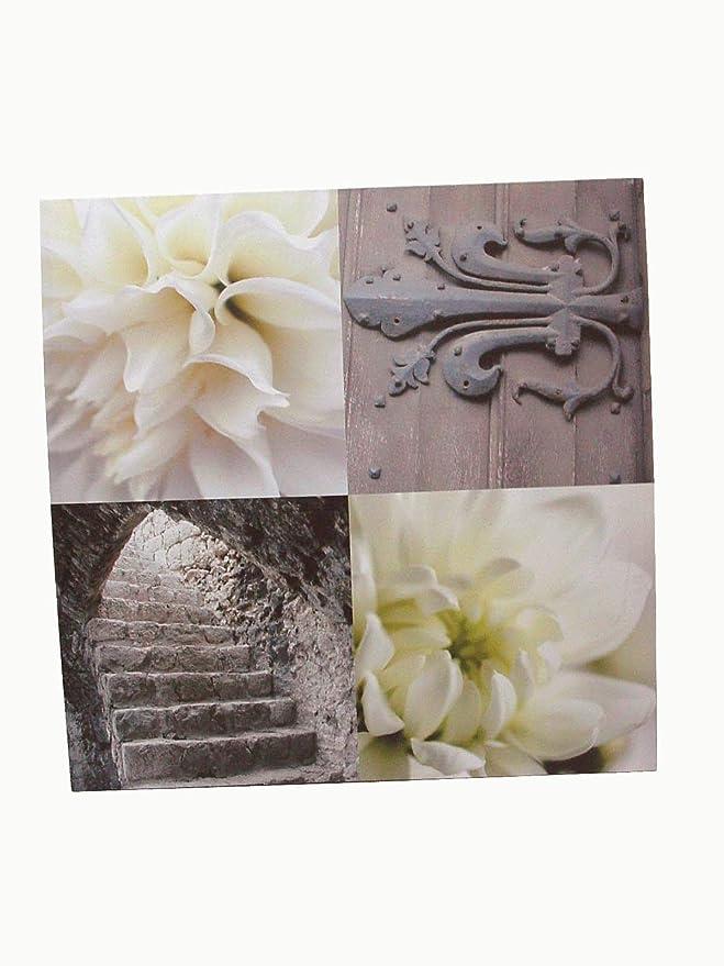 Desconocido Cuadro Lienzo Canvas Madera Grande FOTOGRAFIAS Flores Ceremonia Boda Puerta Escalera: Amazon.es: Hogar