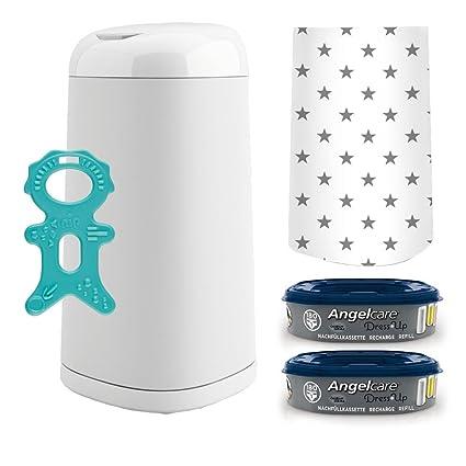 Angel Care® Dress Up Starter-Set: Cubo para pañales + 2 recambios para