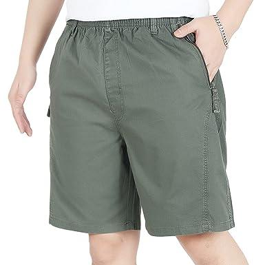 2030b50ab90d Heheja Herren Bermuda Cargo Shorts Männer Baumwolle Militär Vintage  Knielang Kurze Hosen  Amazon.de  Bekleidung