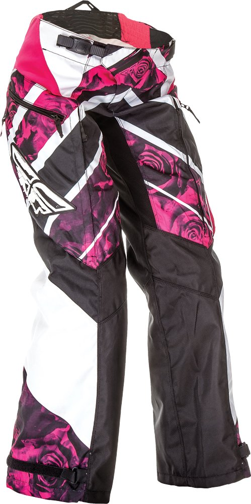 Fly Racing Unisex-Adult Kinetic Ladies OverBoots Pants (Pink/White, Size 22)