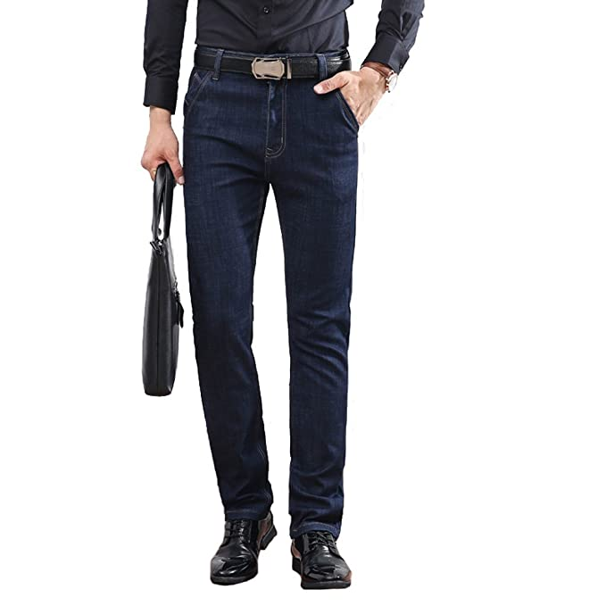 Denim Jeans casual uomo,Straight jeans dritto da uomo in