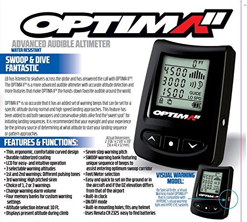 New Optima2 Parachute Skydiving Audible Altimeter from Unknown