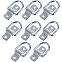 8 Pack Lashing Rings D Ring tie Down Hooks,D-Rings Anchor 1200 lbs Capacity Trailer Anchors Points,with Mounting Bracket Tie Down Points for Trailers Trucks RV Campers SUV Boats etc