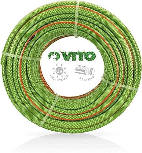 "VITO Garden 25 m PVC Gartenschlauch 19mm | 3/4"" flexibel 20bar UV beständig - Wasserschlauch 19 mm (3/4 Zoll) (25m 19mm 3/4"")"