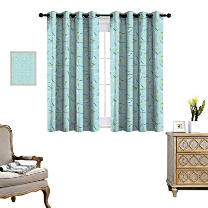 Amazoncom Geometric Window Curtain Fabric Cool Line Art