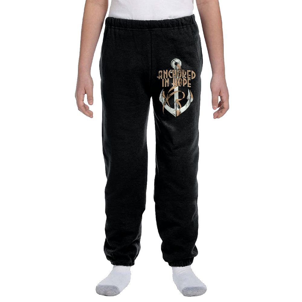 Anchored In Hope Pink Ribbon Fashion Durable Unisex Sweatpants For Youngsters