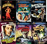 Movies All Nite Long with your favorite Cult Horror & Sci-Fi Sets Morons from Outer Space, Alien from L. A., Twice Told Tales, I Bury the Living, and The Angry Red Planet 6-Movie Bundle