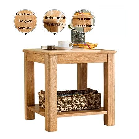 Amazon.com: HANSHAN Mesa auxiliar cuadrada, mesa auxiliar de ...
