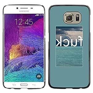 Be Good Phone Accessory // Dura Cáscara cubierta Protectora Caso Carcasa Funda de Protección para Samsung Galaxy S6 SM-G920 // Curse Swear Green Word Summer Poster