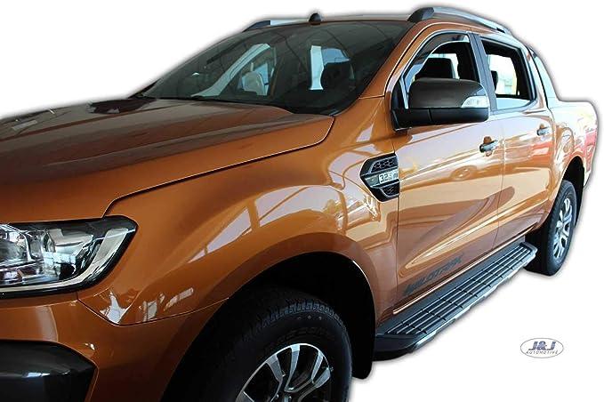 J J Automotive Windabweiser Regenabweiser Für Ranger 4 Türer Ab 2012 2tlg Heko Dunkel Auto