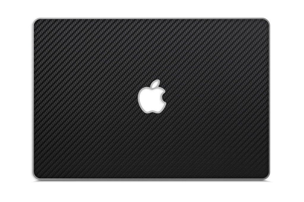 iCarbons Black Carbon Fiber Vinyl Skin for MacBook Air 13'' 2nd Gen. - Current Full Combo
