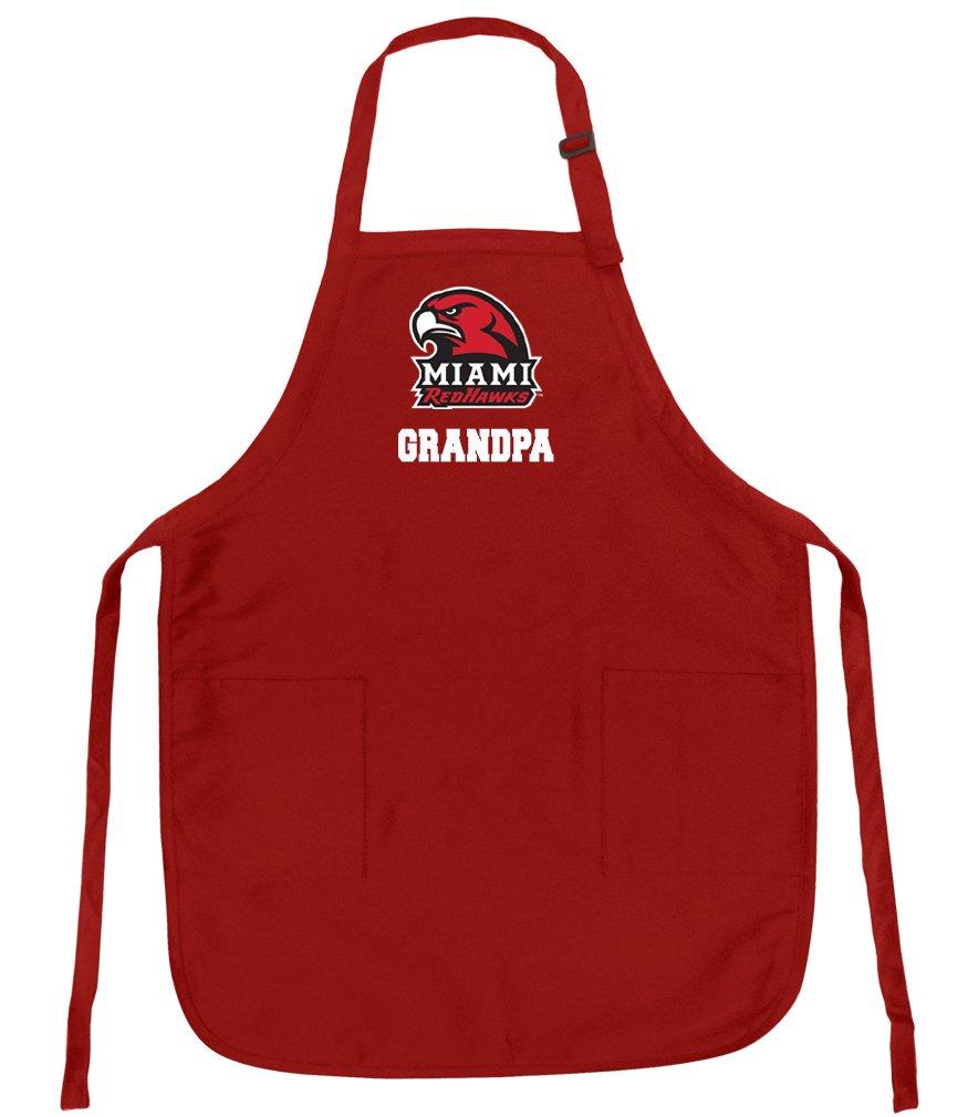 Broad Bay Bestマイアミ大学おじいちゃんエプロンデラックスMiami Redhawksおじいちゃんエプロン   B01M4NOW4L