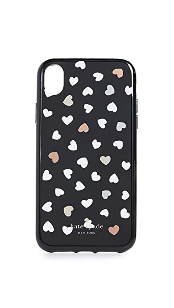 meet 8ca59 a45e8 Amazon.com: Kate Spade New York Heartbeat iPhone XR Case, Black ...