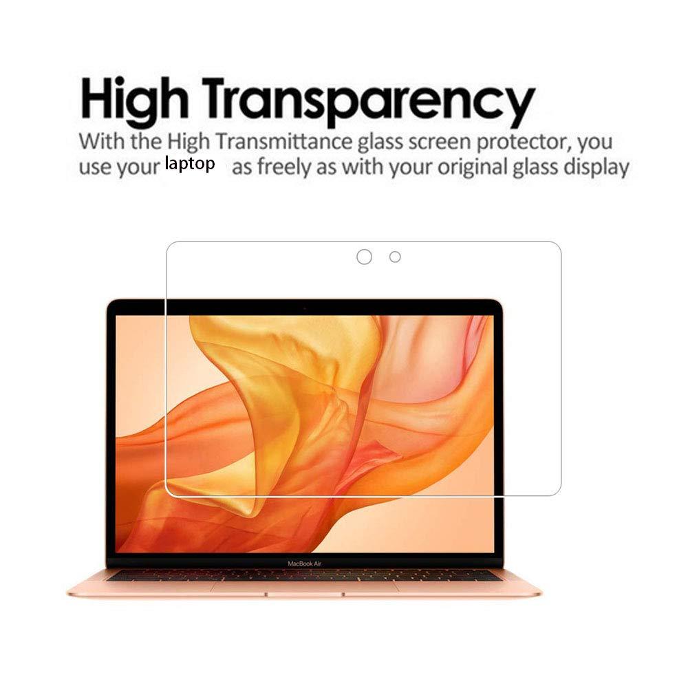 Protector de Pantalla para MacBook Air de 13 Pulgadas dureza 9H Modelo A1932 Zshion 2018 Cristal Templado Protector de Pantalla para MacBook Air de 13 Pulgadas con Touch ID versi/ón m/ás Reciente
