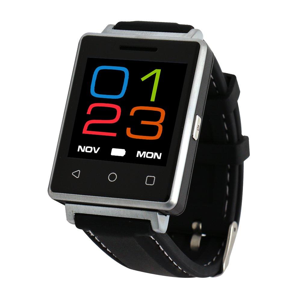 Bluetooth SmartWatch de salud, correas de cuero las notificaciones ...