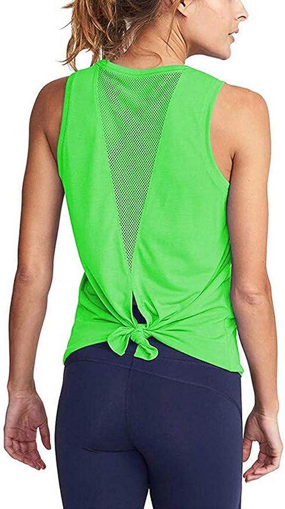 COOKI Women's Yoga Shirts Womens Cute Workout Clothes Mesh Yoga Tops Exercise Gym Shirts Running Tank Tops Sports Shirts