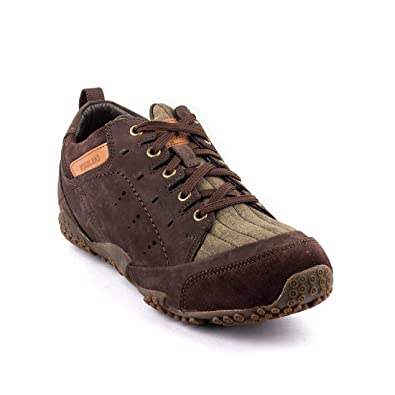 Woodland Leather Men's Casual Brown Sneaker Shoes-Uk-6