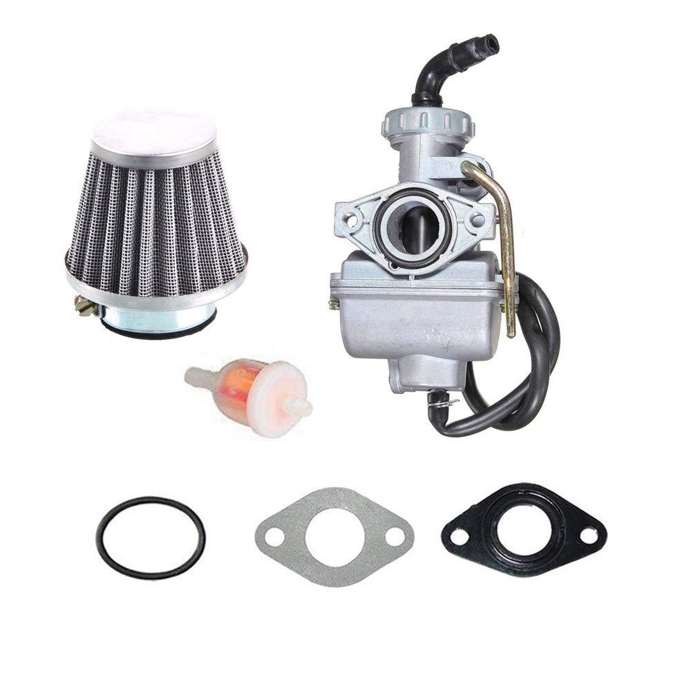 PZ20 Carburetor Carb and 35mm Air Filter for 50cc 70cc 90cc 110cc 125cc ATV Quad Go kart SUNL TAOTAO UTV JCL BAJA NST with gaskets Cnfaner