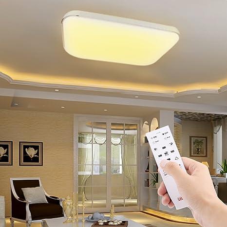 AGM 48W LED Lámpara de Techo Regulable con Control Remoto para Salón ...