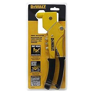 DEWALT Heavy Duty Swivel Head Riveter Tool, 6-Inch