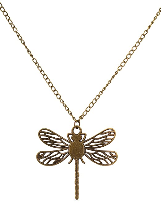Game of Thrones Dragonfly Pendant Necklace for Women Birthdays Gift Jewelry