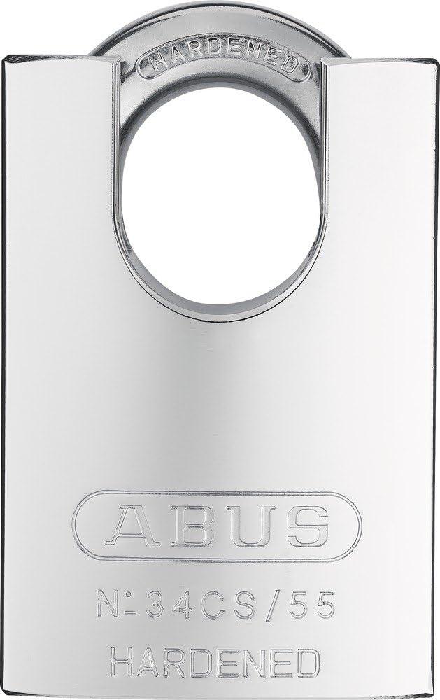 ABUS 200717-34CS//55 Candado de acero endurecido y arco protegido 55 mm